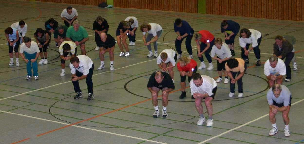 Skigymnastik in der Halle